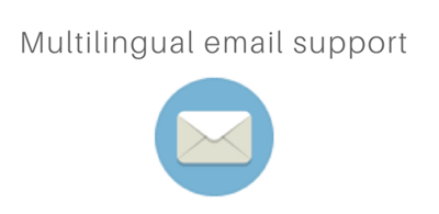 Support clients multilingue et multicanal (email).